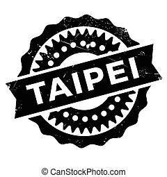 Taipei stap rubber grunge - Taipei stamp. Grunge design with...