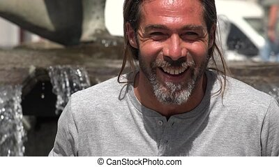Adult Male Laughing And Smiling