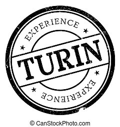 Turin stamp rubber grunge - Turin stamp. Grunge design with...