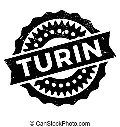 Turin stamp rubber grunge - Turin stamp. Grunge design with...