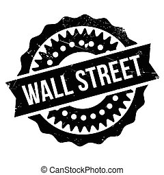 Wall Street stamp. Grunge design with dust scratches....