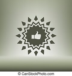 Badge with thumbs up Icon