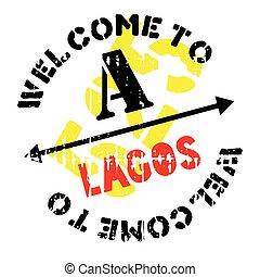 Lagos stamp rubber grunge - Lagos stamp. Grunge design with...