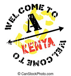 Kenya stamp rubber grunge - Kenya stamp. Grunge design with...