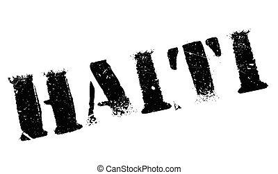 Haiti stamp rubber grunge - Haiti stamp. Grunge design with...