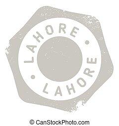 Lahore stamp rubber grunge - Lahore stamp. Grunge design...