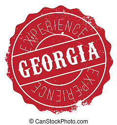 Georgia stamp rubber grunge - Georgia stamp. Grunge design...