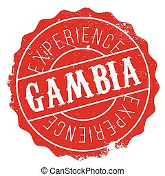 Gambia stamp rubber grunge - Gambia stamp. Grunge design...