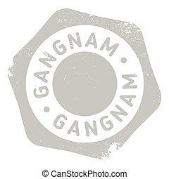 Gangnam stamp rubber grunge