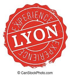 Lyon stamp rubber grunge - Lyon stamp. Grunge design with...