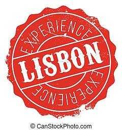 Lisbon stamp rubber grunge - Lisbon stamp. Grunge design...