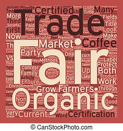 Certified Organic vs Fair Trade Certified text background...