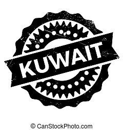 Kuwait stamp rubber grunge - Kuwait stamp. Grunge design...