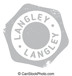 Langley stamp rubber grunge - Langley stamp. Grunge design...