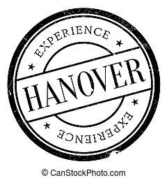 Hanover stamp rubber grunge - Hanover stamp. Grunge design...