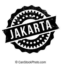 Jakarta stamp rubber grunge - Jakarta stamp. Grunge design...