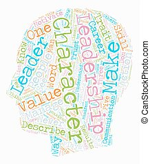 Character Is It Necessary In Leadership text background wordcloud concept