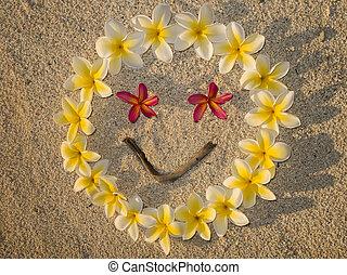 Sourire en fleurs de frangipanier