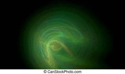 Green smoke pattern abstract motion background