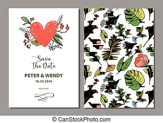 Floral background for invitation card