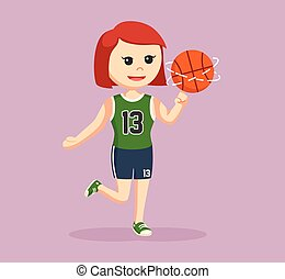 basket ball player girl