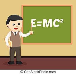 male teacher teaching illustration design