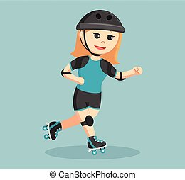roller derby girl in action