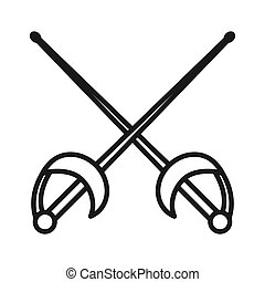 fencing sabre illustration design