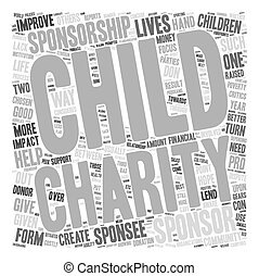 Child Sponsorship Do or Dont text background wordcloud...
