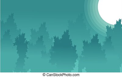 Landscape of forest at night backgrounds