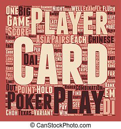 Chinese Poker Big 2 Choh Dai Di text background wordcloud...