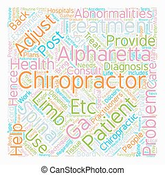 chiropractor alpharetta ga text background wordcloud concept