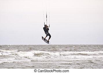 Kitesurfer in St Peter-Ording, Germany