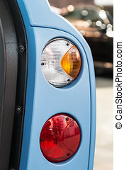 taillights cars with open doors. style transportation