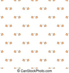 Hands stretch expander pattern, cartoon style - Hands...