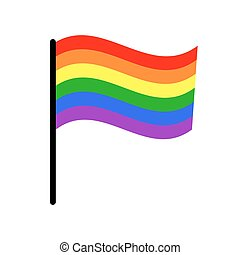 Vector gay LGBT rights rainbow flag. Freedom homosexuality...