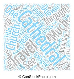 Church Or Cathedral text background wordcloud concept