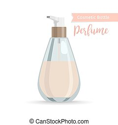 Cosmetics bottle for perfume