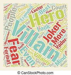 Classic Villainy text background wordcloud concept
