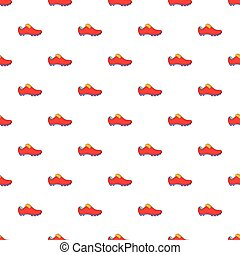 Football boots pattern, cartoon style