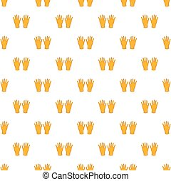 Rubber gloves pattern, cartoon style - Rubber gloves...