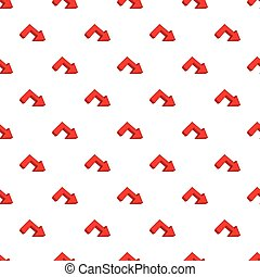 Right arrow pattern, cartoon style - Right arrow pattern....
