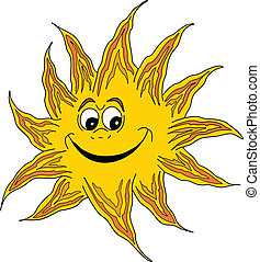 Smiling Sun - Vector illustration of a smiling sun