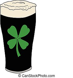 Lucky Irish Pint Of Beer - Vector illustration of a lucky...
