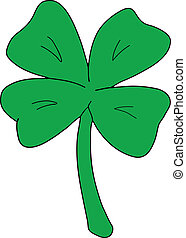 4 Leaf Clover - Vector illustration of a 4 leafed clover