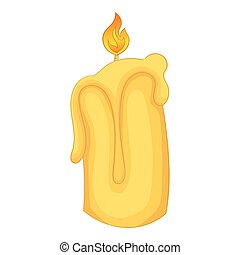 Candle flame icon, cartoon style - Candle flame icon....