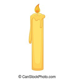 Birthday candle icon, cartoon style - Birthday candle icon....