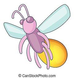 Firefly icon, cartoon style - Firefly icon. Cartoon...