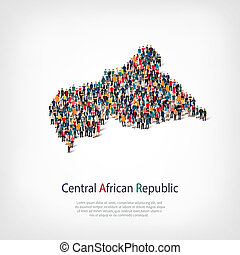 people map country African Republic - Isometric set of...