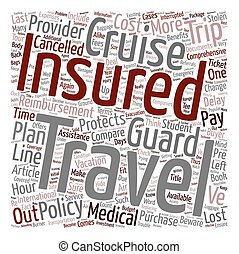 Compare Cruise Insurance You often get what you pay for text background wordcloud concept